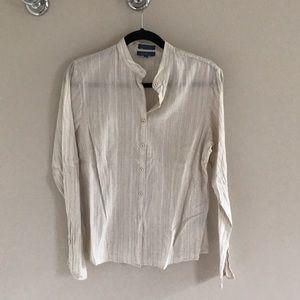 Faconnable women's striped button down shirt sz M